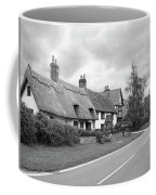 Travellers Delight - English Country Road Black And White Coffee Mug