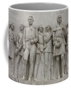 Travis And Crockett On Alamo Monument Coffee Mug