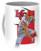 Travis Kelce Kansas City Chiefs Oil Art Coffee Mug