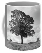 Tree And The Cage Tower In The Distance In Lyme Park Estate In B Coffee Mug
