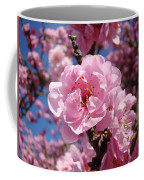 Tree Blossoming Pink Spring Blue Sky Baslee Troutman Coffee Mug