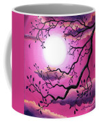 Tree Branch In Pink Moonlight Coffee Mug