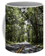 Tree Covered Road Coffee Mug