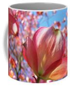 Tree Flowers Pink Dogwood Flowers 5 Dogwood Trees Art Blue Sky Baslee Troutman Coffee Mug