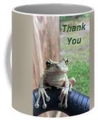 Tree Frog Thank You Coffee Mug