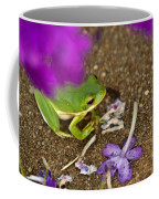 Tree Frog Under Flower Coffee Mug