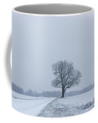 Tree In Heavy Snow Coffee Mug