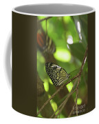 Tree Nymph Butterfly Sitting On A Tree Branch Coffee Mug