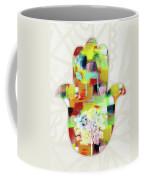 Tree Of Life Hamsa- Art By Linda Woods Coffee Mug
