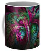 Tree Of Life-pink And Blue Coffee Mug