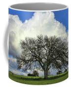 Tree Of Life Style Oak Tree And Coluds Coffee Mug