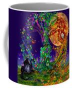Tree Of Life With Owl And Dragon Coffee Mug