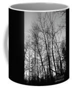 Tree Silhouette Bw Coffee Mug