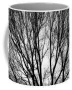 Tree Silhouettes In Black And White Coffee Mug