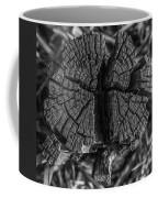 Tree Stump Black And White Coffee Mug