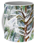 Tree With White Fluffy Snow Coffee Mug