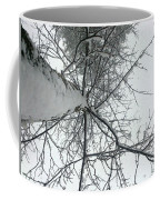 Tree Wrapped In Snow Coffee Mug