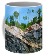 Trees Above The Pink And Grey Rock  Coffee Mug