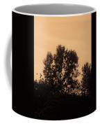 Trees And Geese In Sepia Tone Coffee Mug