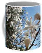 Trees Art Prints White Magnolia Flowers Baslee Troutman Coffee Mug