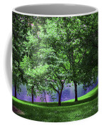 Trees By A Pond Coffee Mug