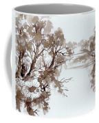 Trees By A River Coffee Mug