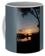 Trees Frame A Great Plains Sunrise Coffee Mug