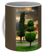 Trees In A Park Of Limassol City Sea Front In Cyprus Coffee Mug