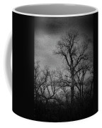 Trees In Storm In Black And White Coffee Mug