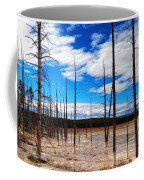 Trees In The Midway Geyser Basin Coffee Mug