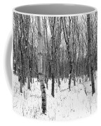 Trees In Winter Snow, Black And White Coffee Mug