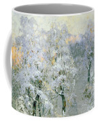 Trees In Wintry Silver Coffee Mug