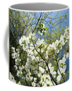 Trees Sunlit White Dogwood Art Print Botanical Baslee Troutman Coffee Mug