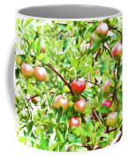 Trees With Red Apples In An Orchard Coffee Mug