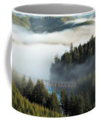 Trestle In Fog Coffee Mug