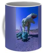 Trex And Triceratops  Coffee Mug