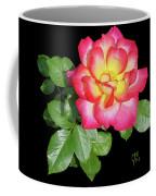 Tri-color Pink Rose2 Cutout Coffee Mug