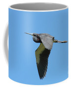 Tri-colored Heron In Flight Coffee Mug