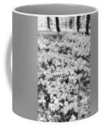 Trilliums On The Forest Floor Bw Coffee Mug
