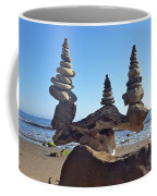 Triple Stack On Driftwood Coffee Mug