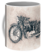 Triumph Speed Twin - 1937 - Vintage Motorcycle Poster - Automotive Art Coffee Mug