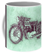 Triumph Speed Twin 3 - 1937 - Vintage Motorcycle Poster - Automotive Art Coffee Mug