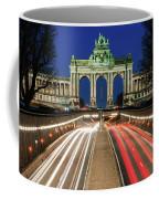 Arcade Du Ciquantenaire At Blue Hour Coffee Mug by Barry O Carroll