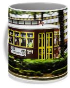Trolley Car In Motion, New Orleans, Louisiana Coffee Mug