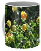 Trollius Europaeus Spring Flowers In The Rain Coffee Mug
