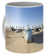 Troops Stand On The Wings Of A C-130 Coffee Mug