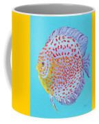 Tropical Discus Fish With Red Spots Coffee Mug