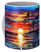Tropical Fiesta - Palette Knife Oil Painting On Canvas By Leonid Afremov Coffee Mug