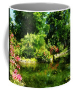 Tropical Garden By Lake Coffee Mug