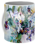 Tropical White Orchids Coffee Mug